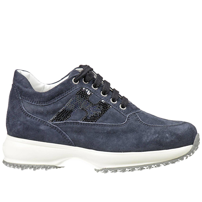 HOGAN: INTERACTIVE SUEDE H PAILLETTES   Shoes Hogan Kids Blue ...