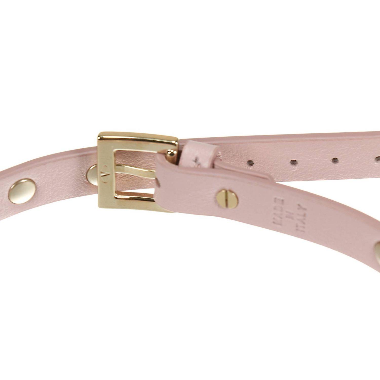 Jewel Valentino Garavani: Rockstud double bracelet in leather with metal studs pink 2