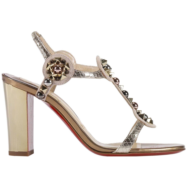 Sandales à talons Christian Louboutin: Chaussures femme Christian Louboutin beige 1