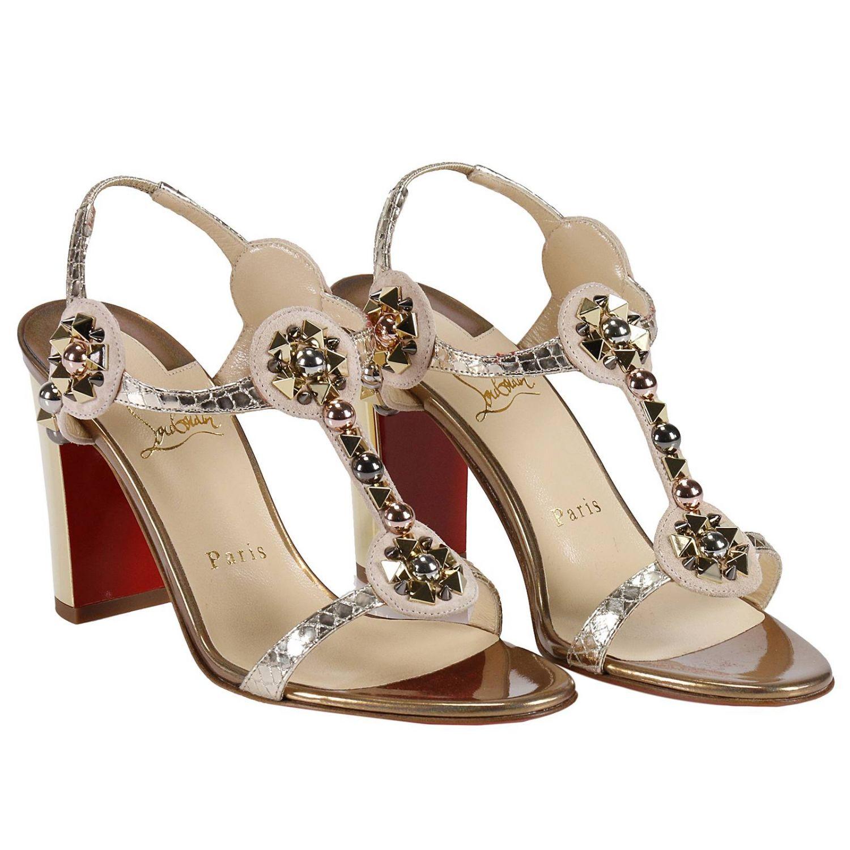 Sandales à talons Christian Louboutin: Chaussures femme Christian Louboutin beige 4
