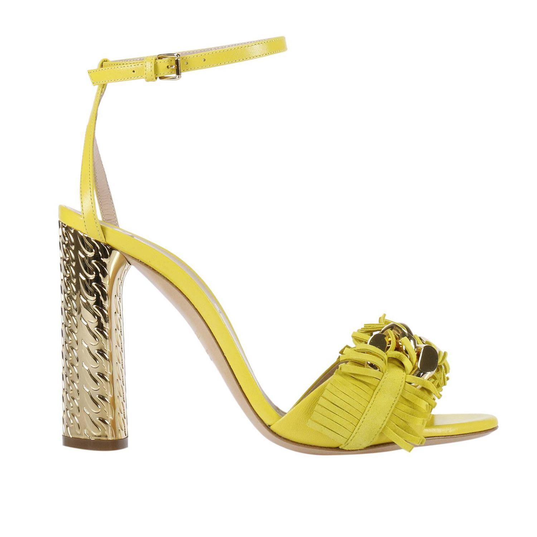 Heeled sandals Casadei: Shoes women Casadei yellow 1