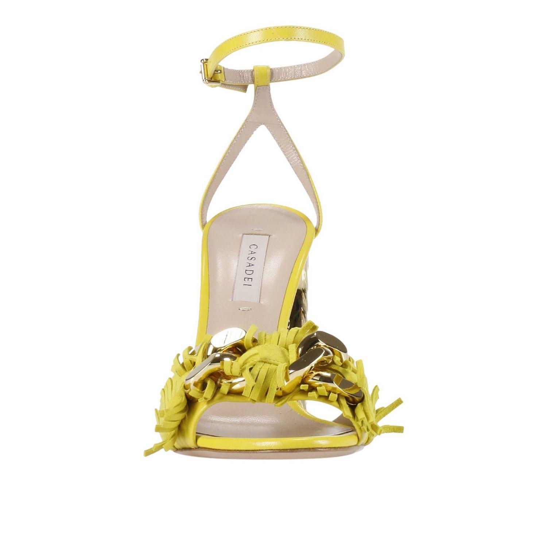 Heeled sandals Casadei: Shoes women Casadei yellow 2
