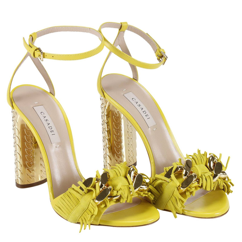 Heeled sandals Casadei: Shoes women Casadei yellow 4