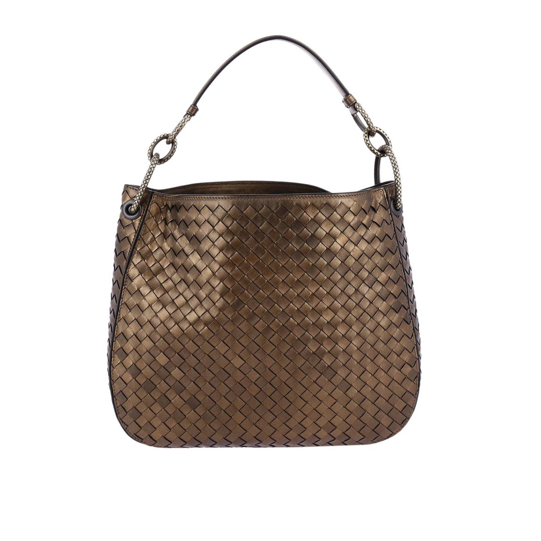 Handbag Bottega Veneta Hobo Bag Loop Small In Nappa With Woven Pattern And Maxi Rings 8221136