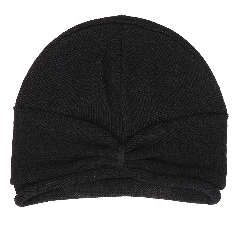 Cappello Cuculo in maglia di lana con logo di strass ...