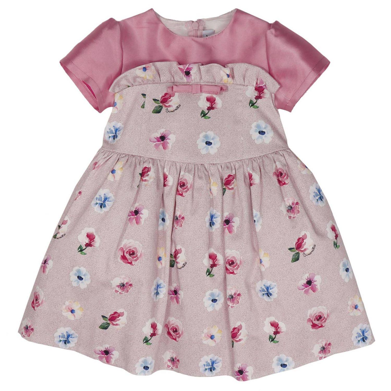 连衣裙 儿童 Simonetta Mini 粉色 1