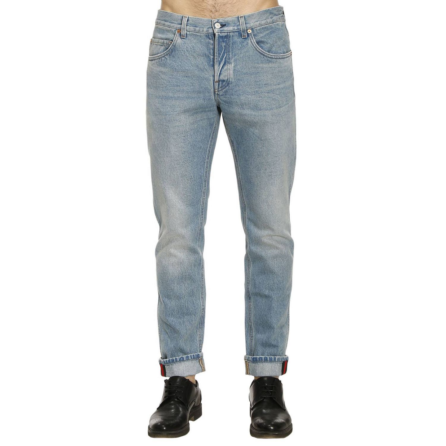 Jeans Tapered Carrot Jeans Fit With Used Effect 8231355