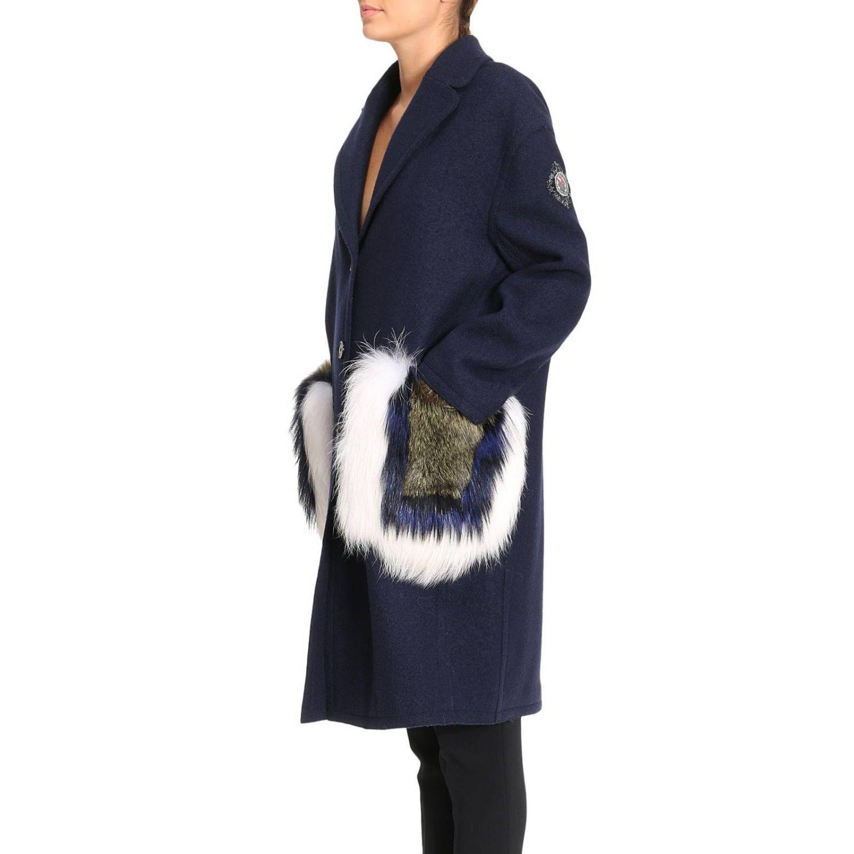 cappotto donna con tasche pelliccia