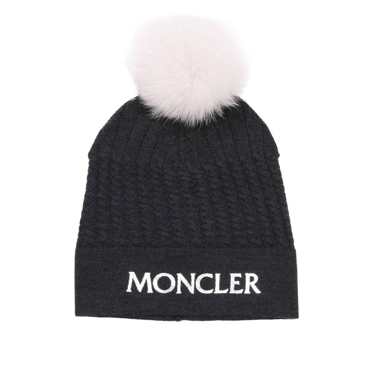 女孩帽子 儿童 Moncler 灰色 1