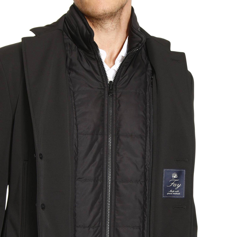Impermeabile New Bernard lungo in nylon con gilet removibile e imbottito