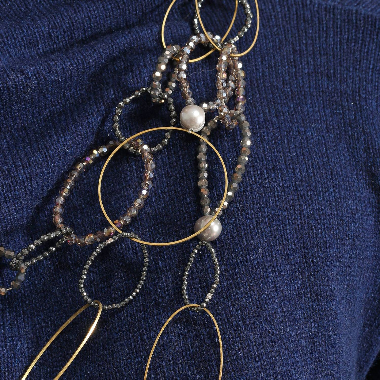 Gioielli Night Market: Collana Long Circles con micro perline cerchi e dettagli metal grigio 2