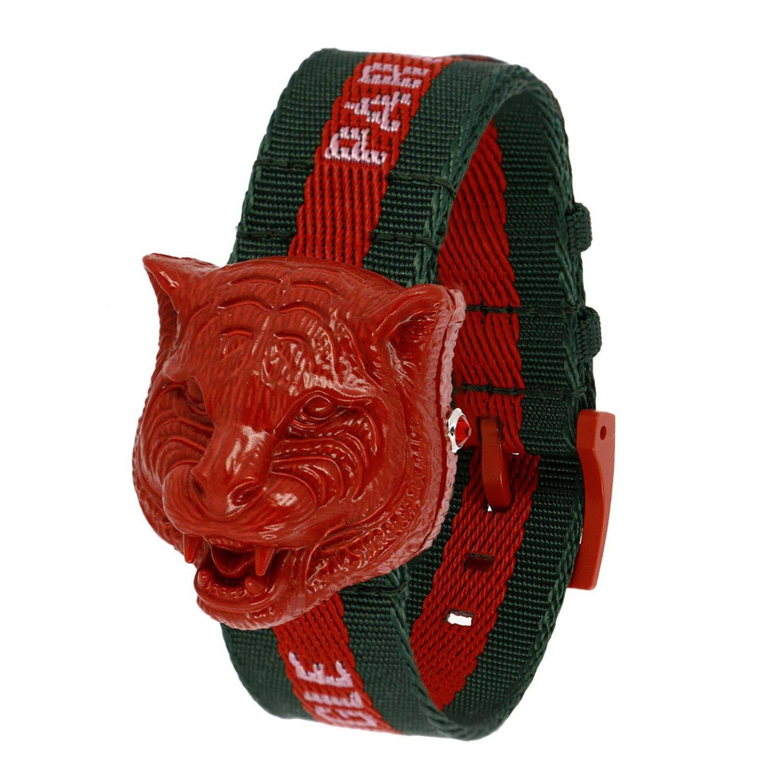 Orologio Le Marché des Merveilles cinturino Web e cassa Tiger da aprire rosso 1