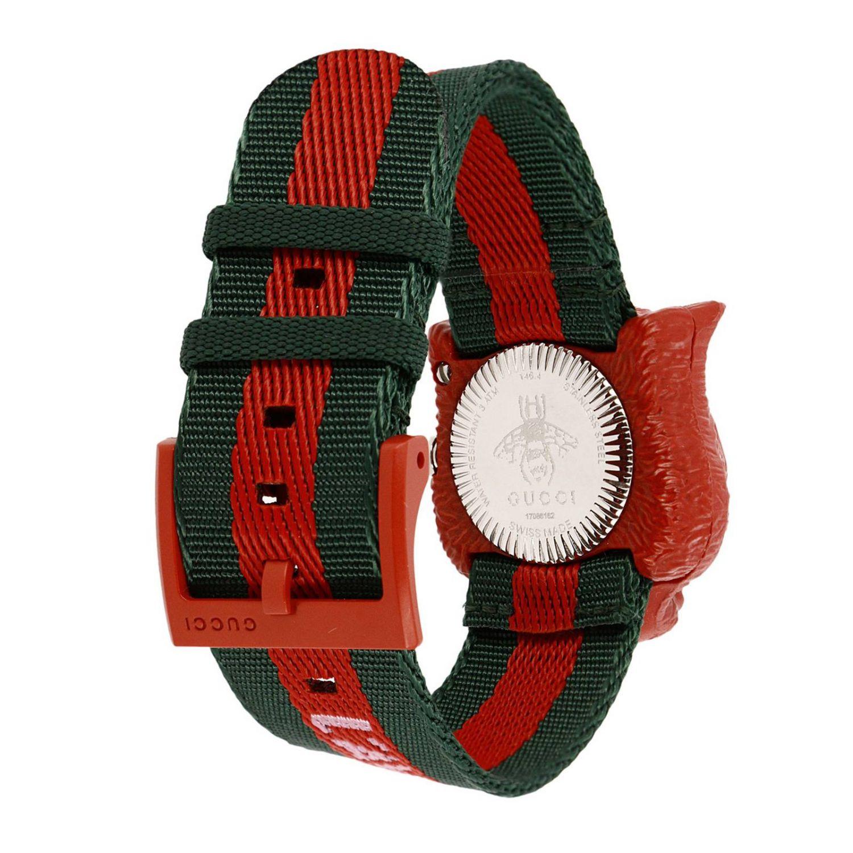 Orologio Le Marché des Merveilles cinturino Web e cassa Tiger da aprire rosso 3