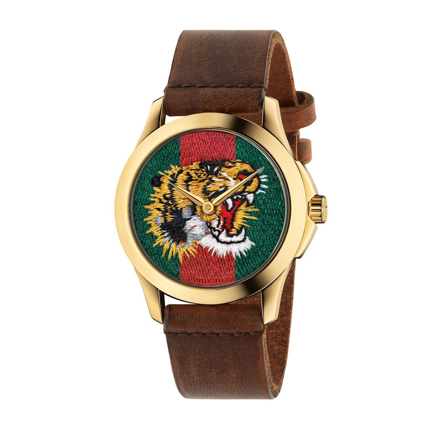 Le Marché des Merveilles watch 38mm case with Angry Cat pattern brown 1