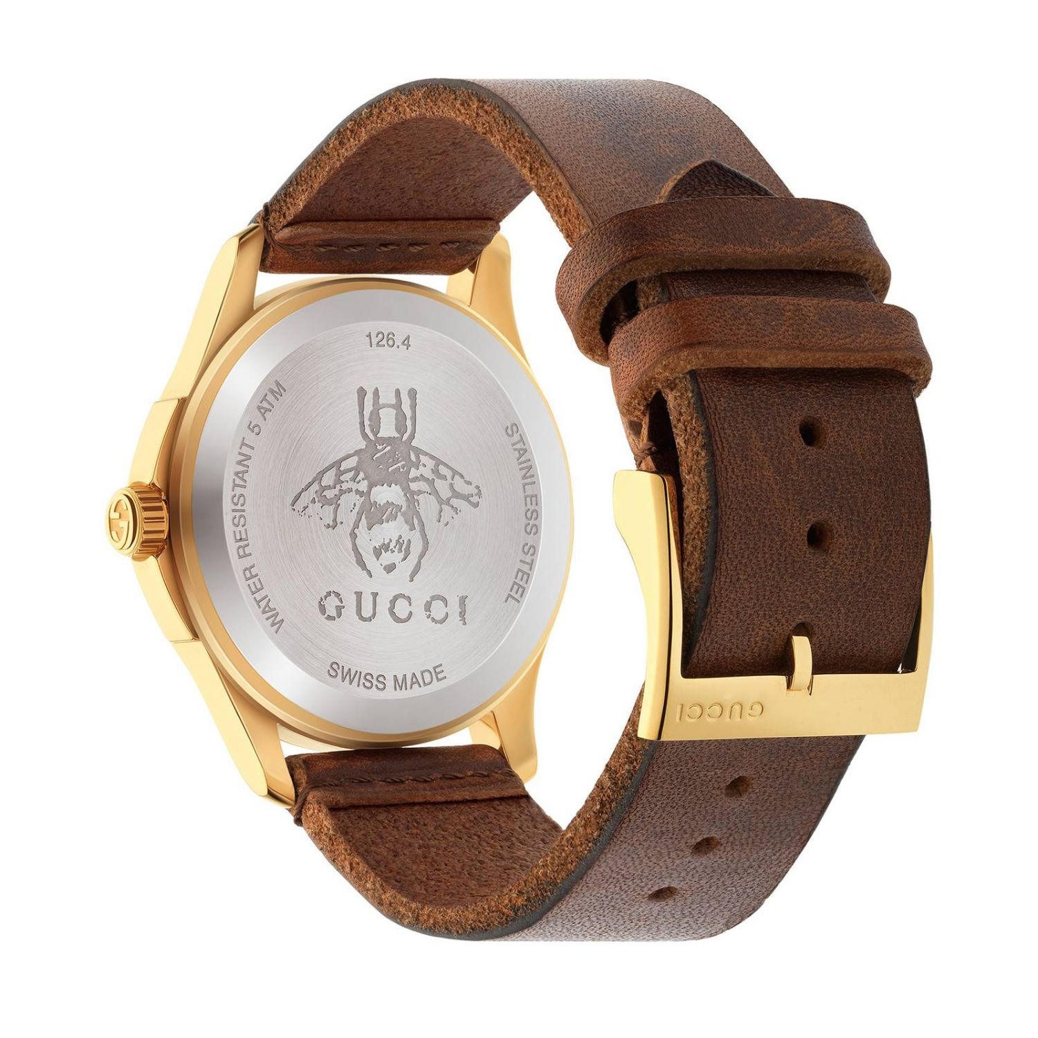 Le Marché des Merveilles watch 38mm case with Angry Cat pattern brown 2