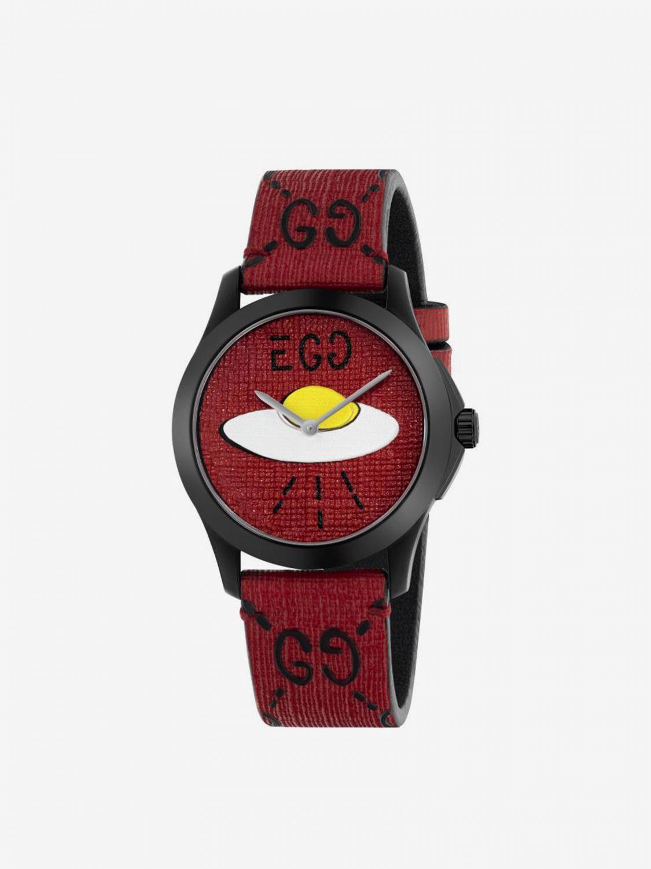 Uhr G-Timeless Uhrengehäuse 38mm aus PVD mit Monogramm und Ufo rot 1