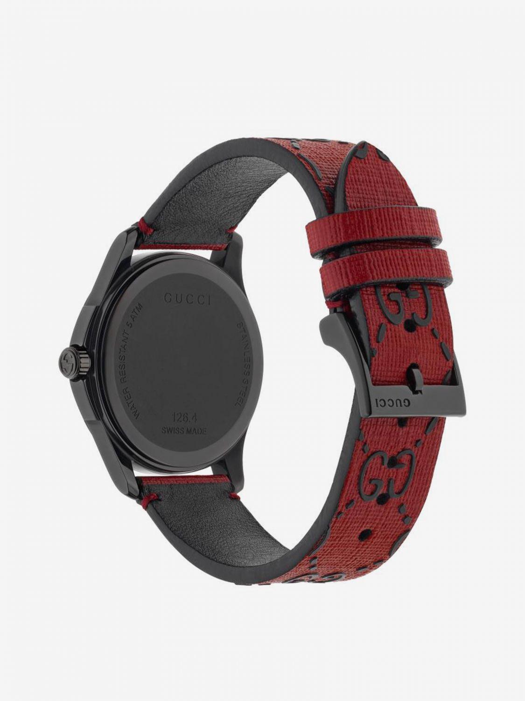 Uhr G-Timeless Uhrengehäuse 38mm aus PVD mit Monogramm und Ufo rot 2