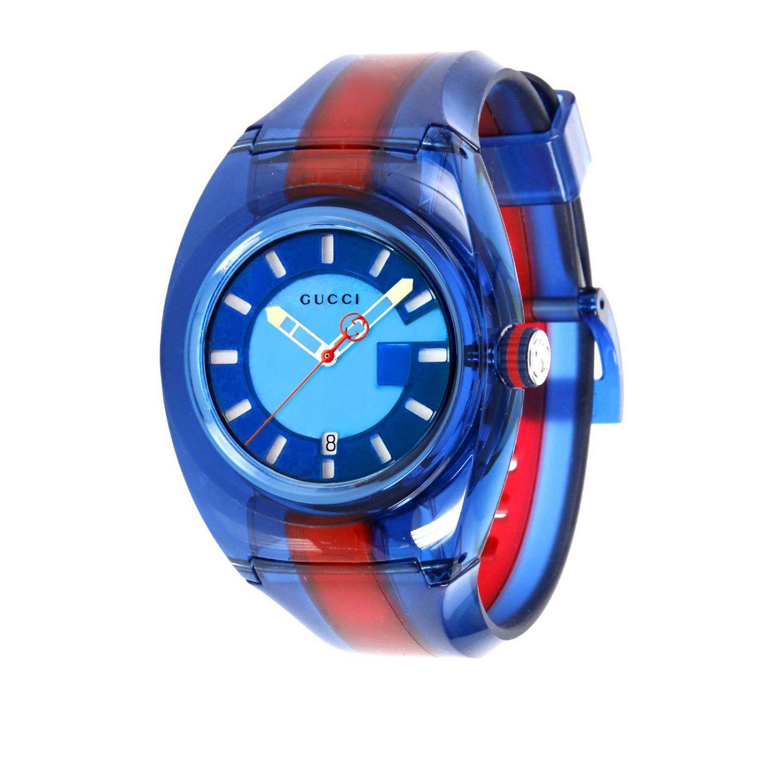 Sync Watch Web Gehäuse in transparentem PVC blau 1