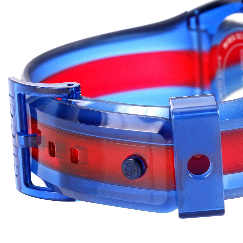 Sync Watch Web Gehäuse in transparentem PVC blau 3