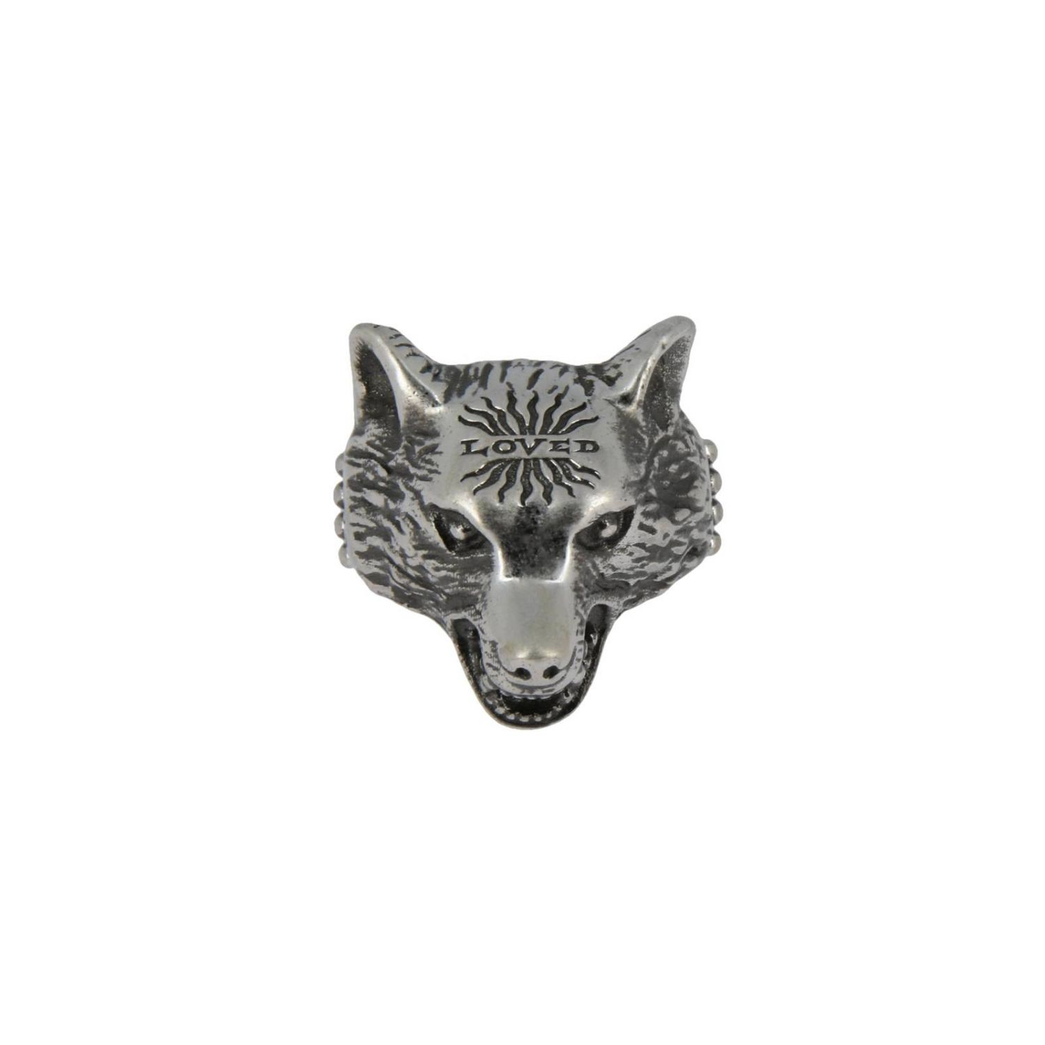 Anello Anger Forest Wolf s in argento sterling con finitura aureco argento 1