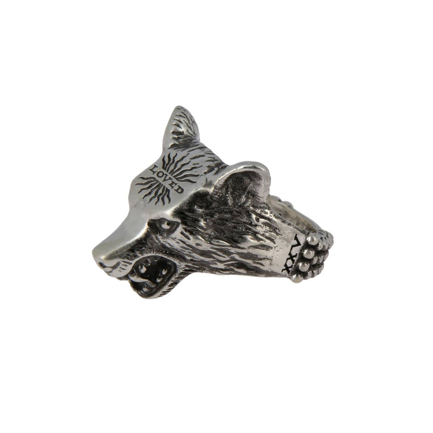 Anello Anger Forest Wolf s in argento sterling con finitura aureco argento 2
