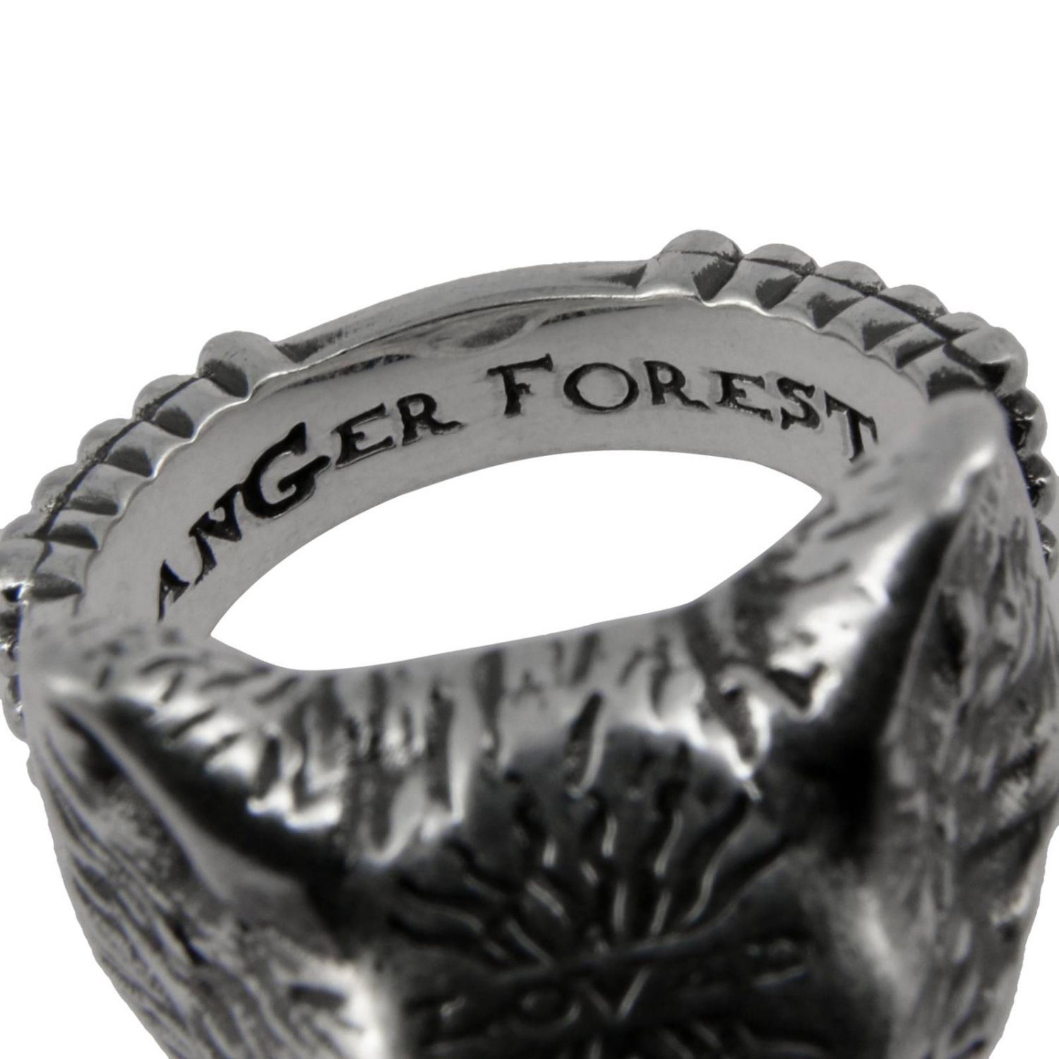 Anello Anger Forest Wolf s in argento sterling con finitura aureco argento 3