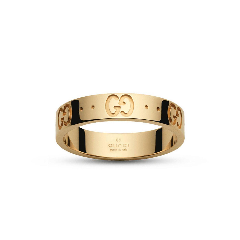 Schmuck Gucci: Low Icon Ring 13 in Gold mit eingraviertem