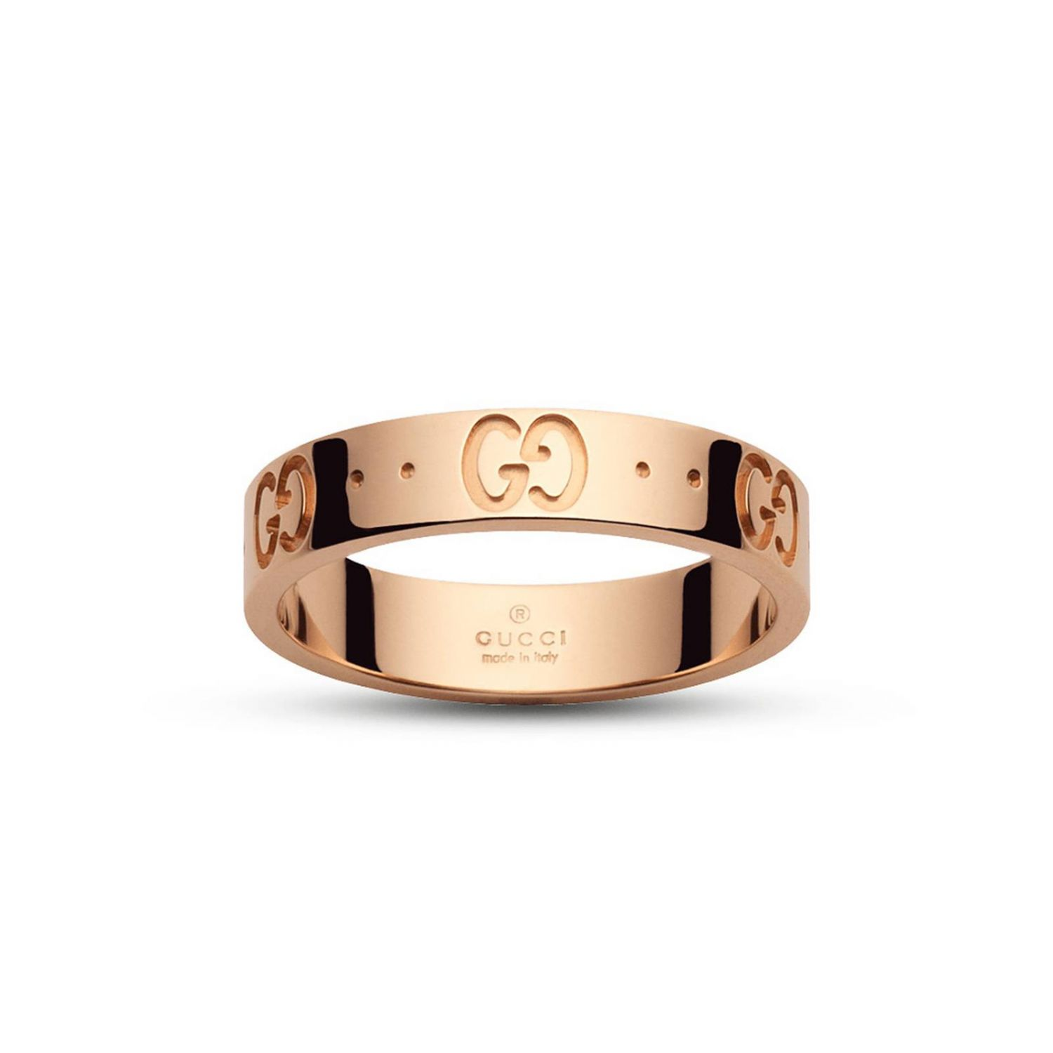 Jewel Low Icon Ring 14 In Gold With Engraved Gg 8260922