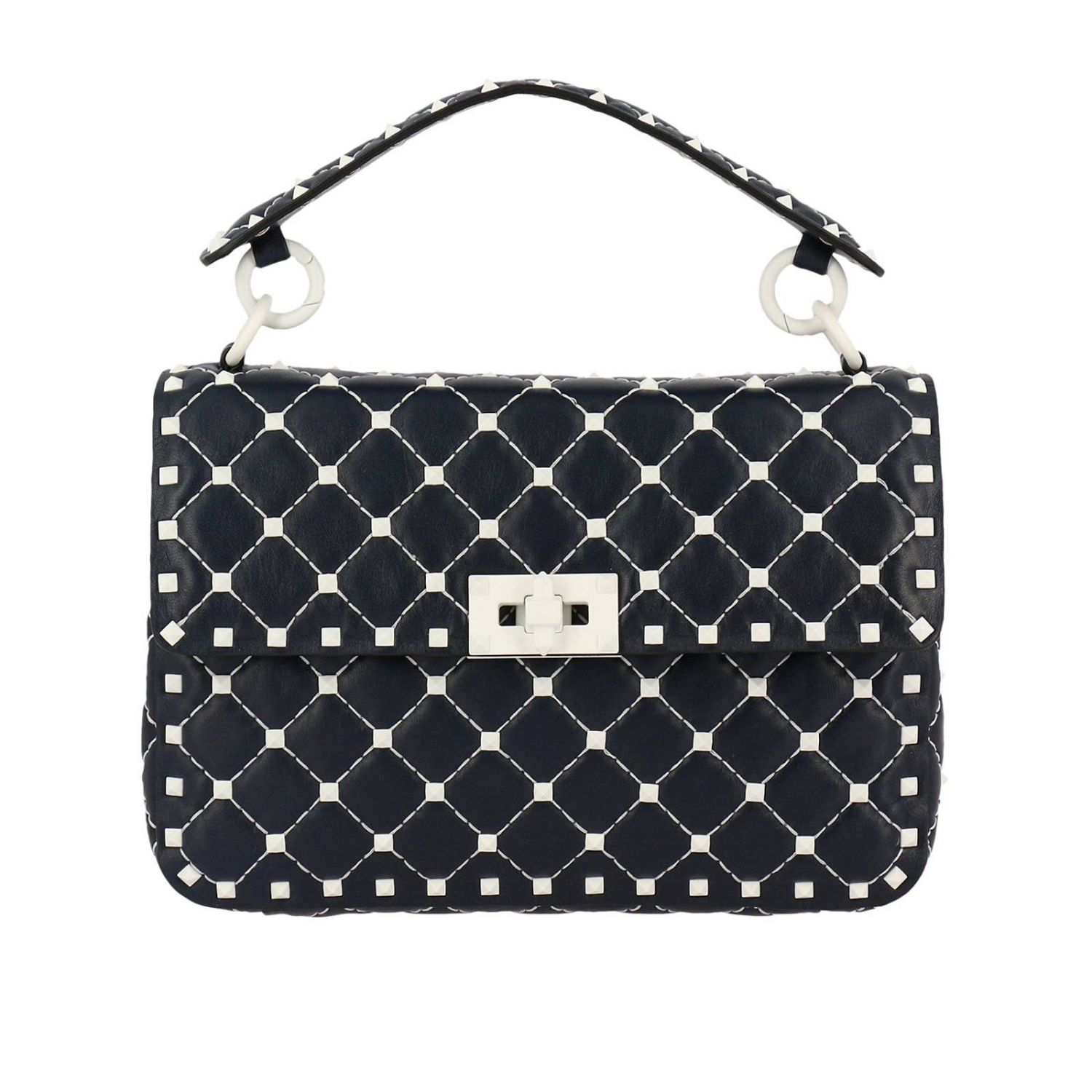 Handbag Valentino Free Rockstud Spike Medium Bag In Genuine Leather With Micro Studs And Shoulder Strap 8286789