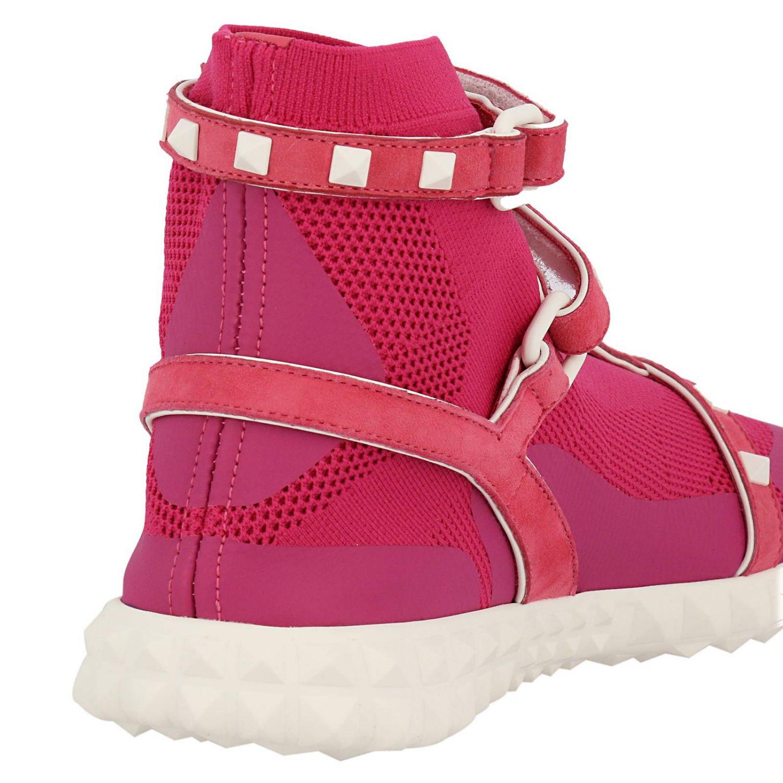 Sneakers Rockstud bodytech con calzino e fasce in pelle con borchie a contrasto