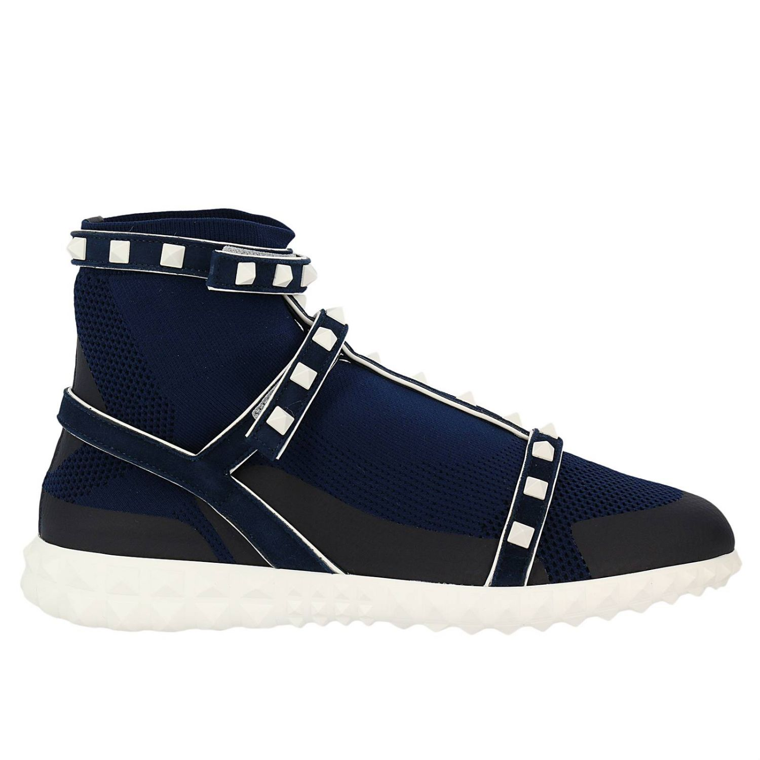 Sneakers Valentino Rockstud Bodytech Sneakers With Sock And Leather Bands With Contrasting Studs 8287039