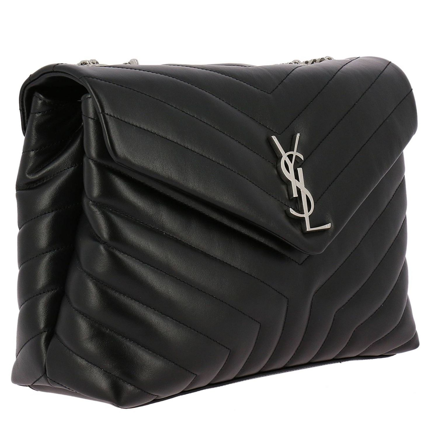 Ysl Borse.Borsa Monogram Ysl Toy Luo Medium In Pelle Trapuntata Borse A Tracolla Saint Laurent Donna Nero Borse A Tracolla Saint Laurent 487216 Dv726 Giglio It