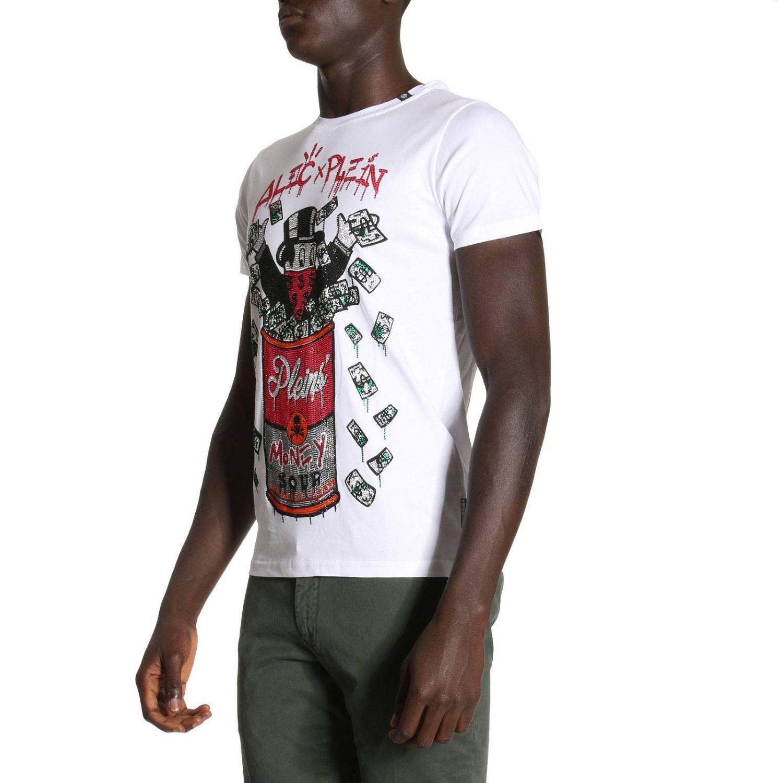 T shirt Round Neck SS Monopoli five con maxi stampa Alec di strass