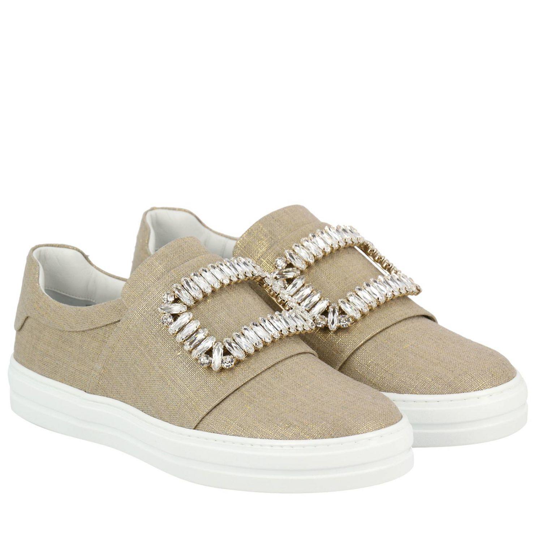 Shoes women Roger Vivier gold 2
