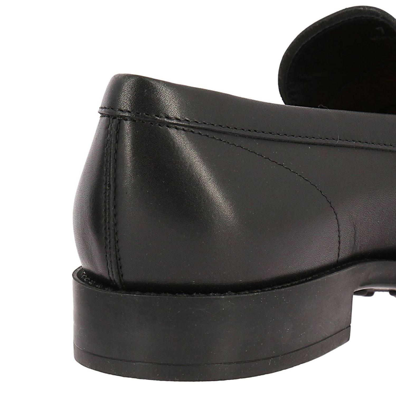 Mocassino classico in pelle con traversina e fondo in gomma nero 4