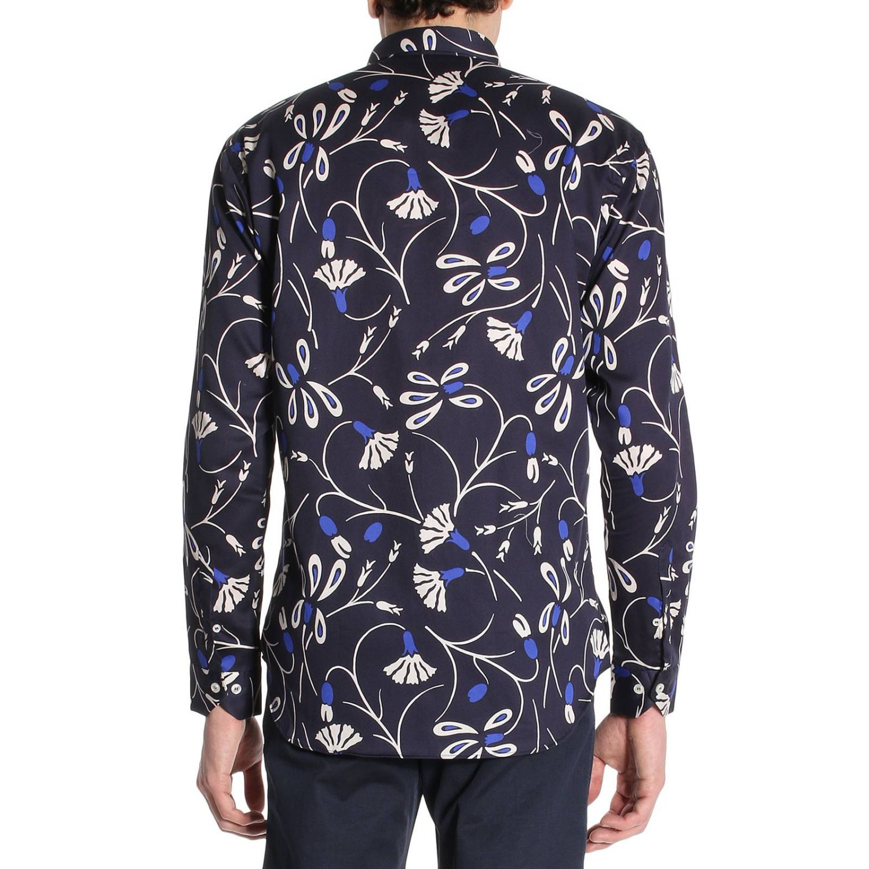 Camicia Merlino in cotone con stampa floreale blue 3