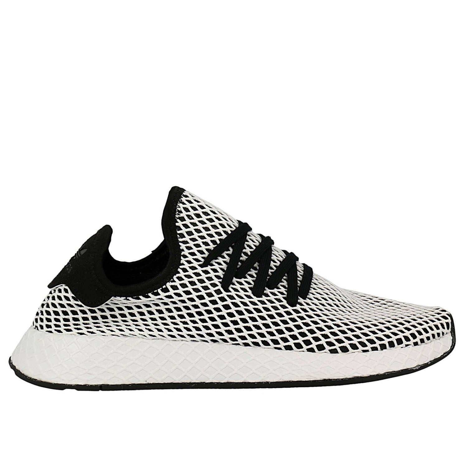 Adidas Deerupt Runner sneakers in knit and mesh stretch net effect