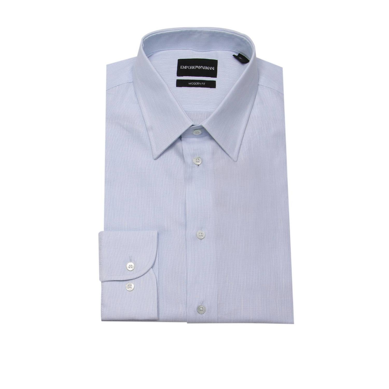 Рубашка Мужское Emporio Armani небесно-голубой 1