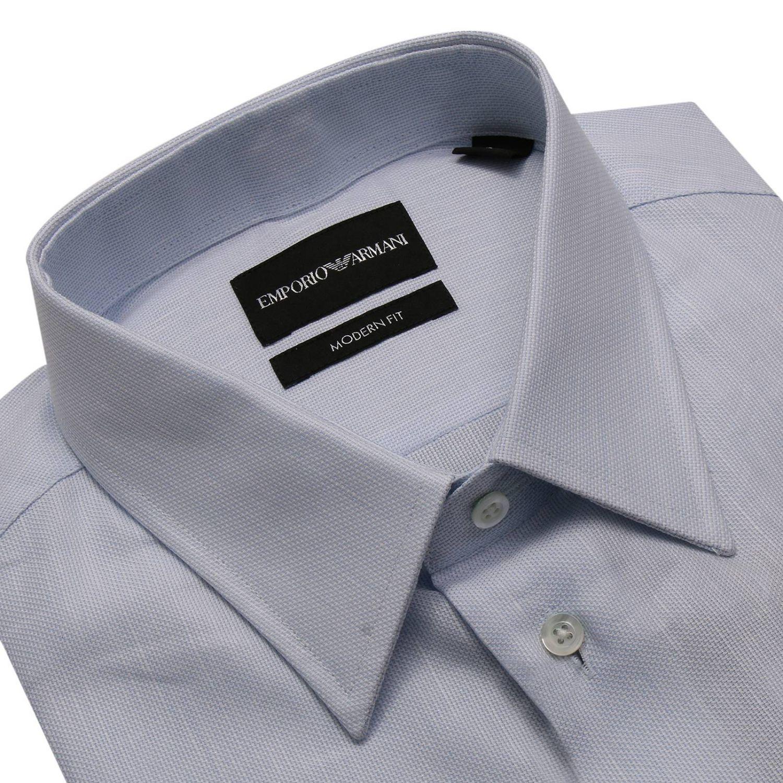 Рубашка Мужское Emporio Armani небесно-голубой 3