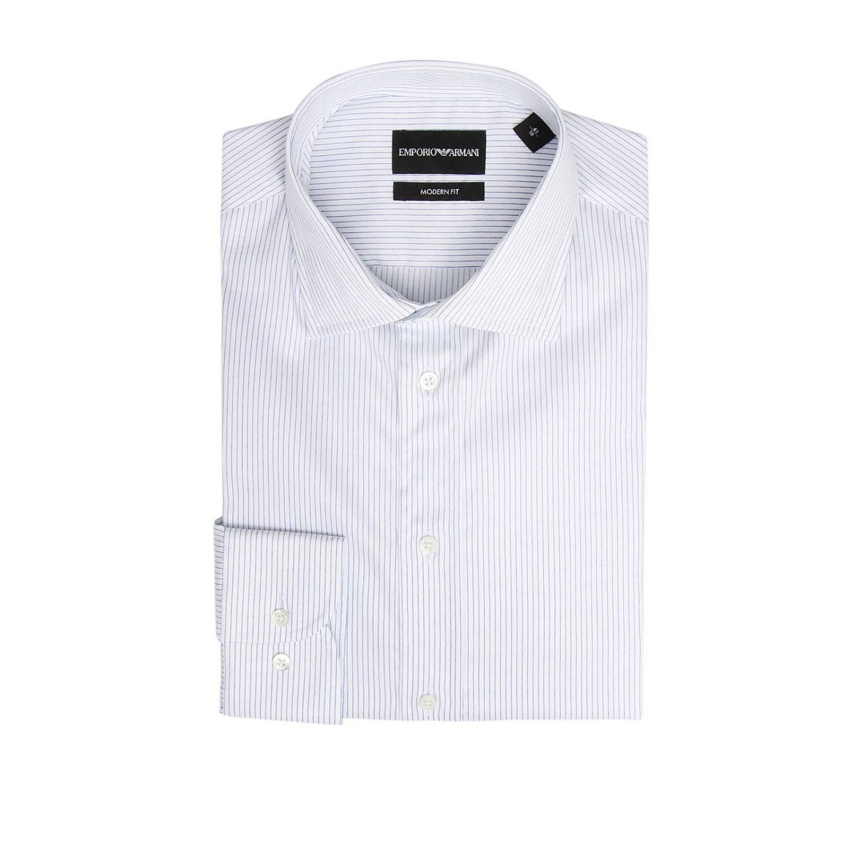Shirt men Emporio Armani gnawed blue 1