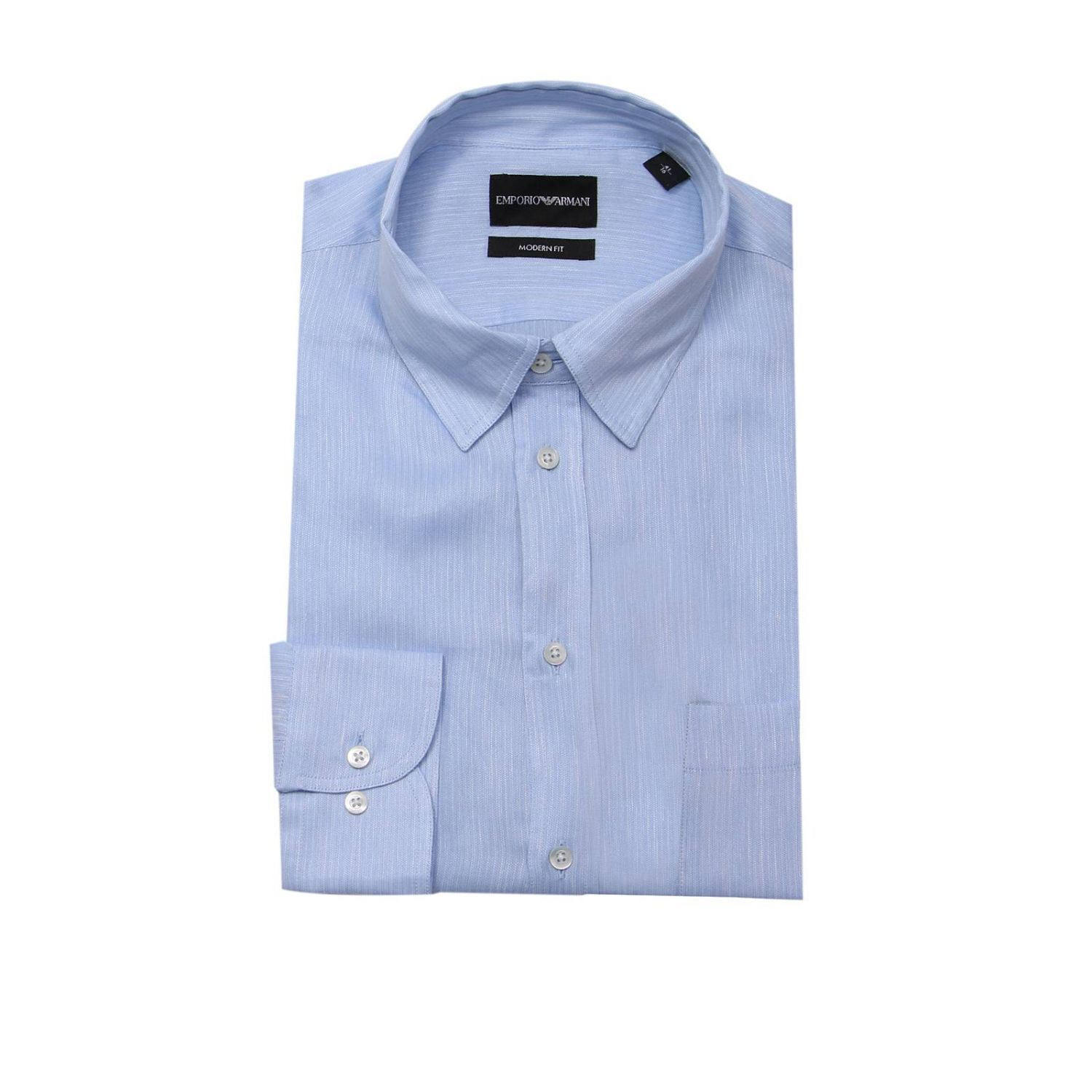 Shirt men Emporio Armani gnawed blue 1