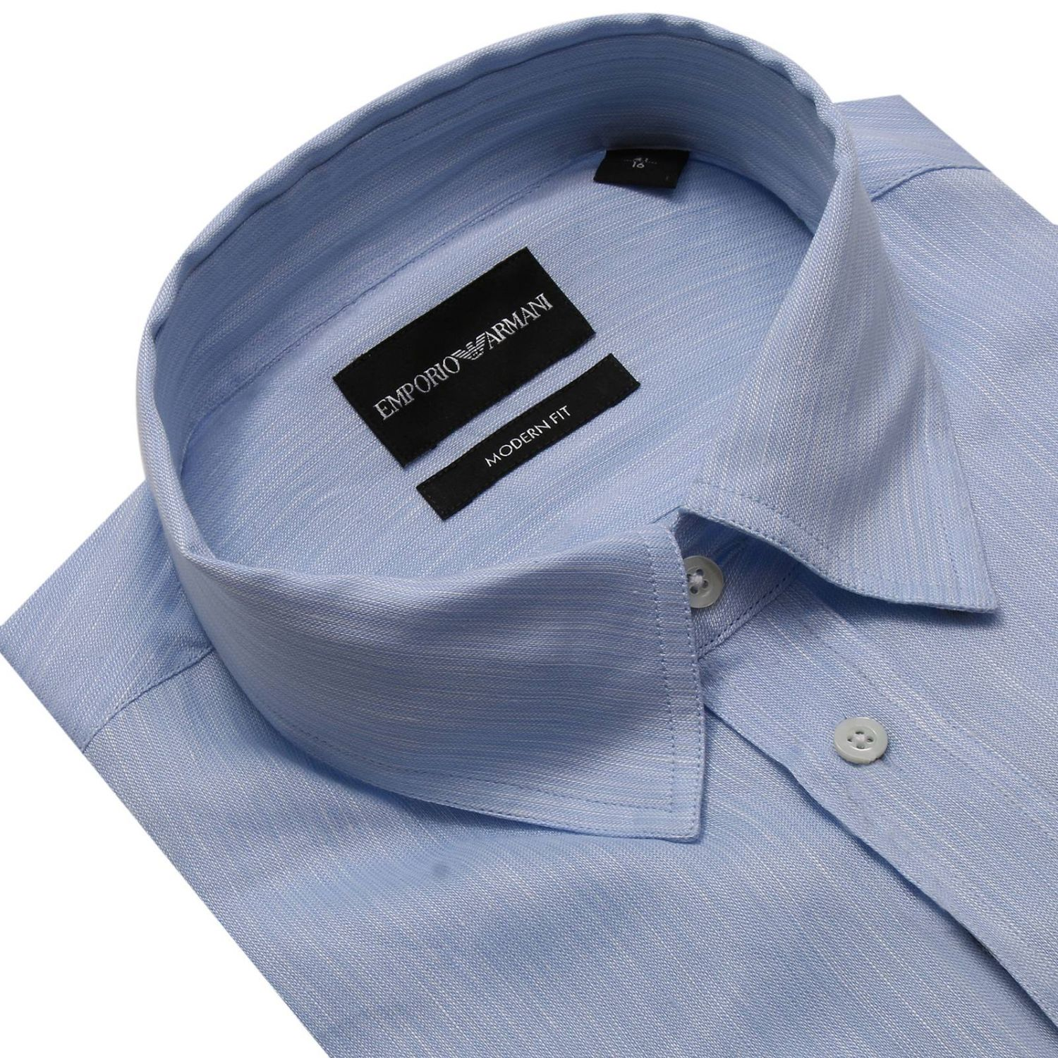 Shirt men Emporio Armani gnawed blue 3