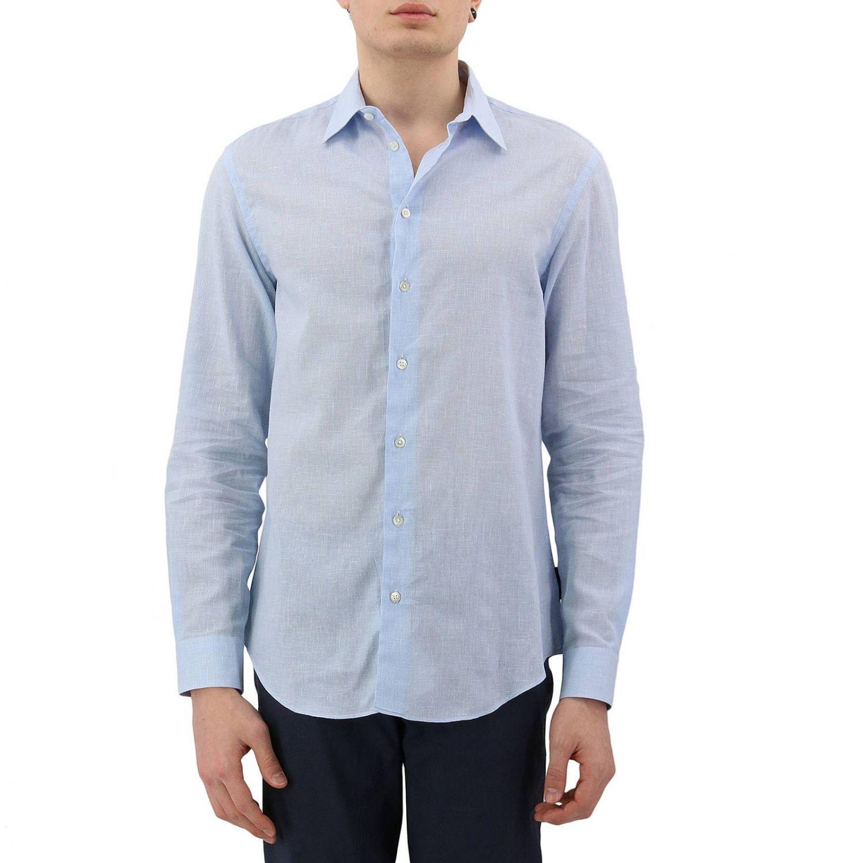 Shirt men Emporio Armani sky blue 1