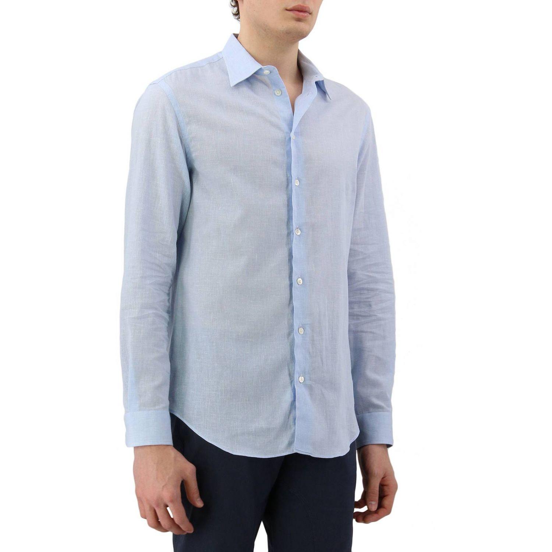 Shirt men Emporio Armani sky blue 2