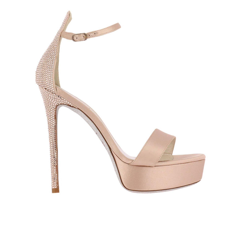 Босоножки на каблуке Rene Caovilla: Обувь Женское Rene Caovilla нюд 1