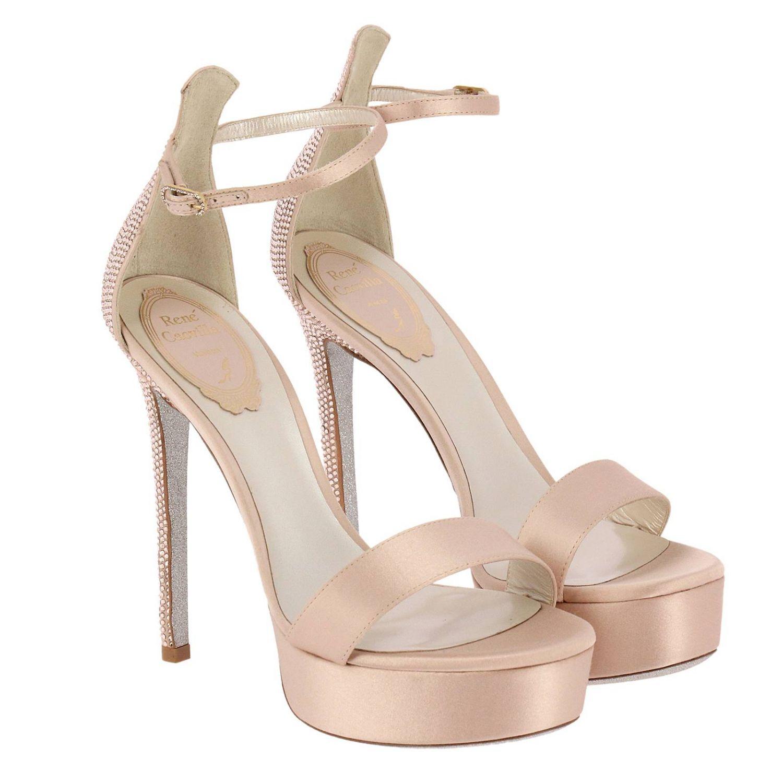Босоножки на каблуке Rene Caovilla: Обувь Женское Rene Caovilla нюд 2