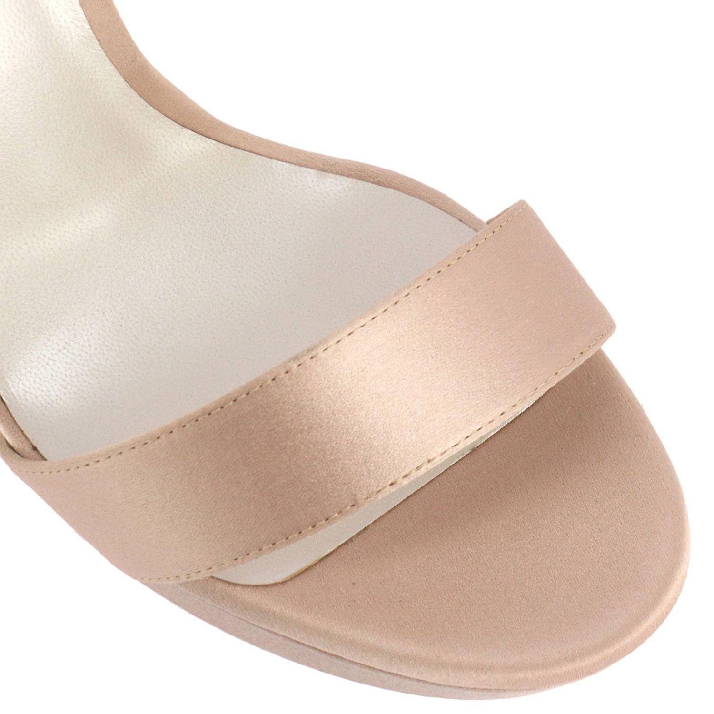 Босоножки на каблуке Rene Caovilla: Обувь Женское Rene Caovilla нюд 3