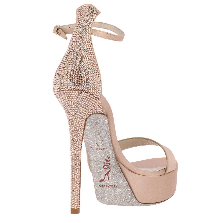 Босоножки на каблуке Rene Caovilla: Обувь Женское Rene Caovilla нюд 4