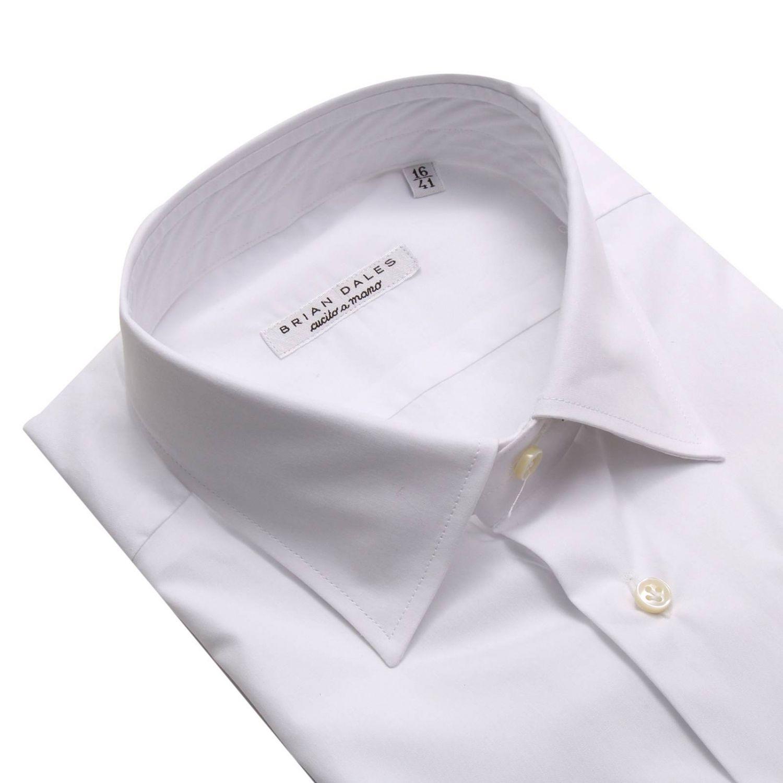 Рубашка Мужское Brian Dales Camicie белый 3