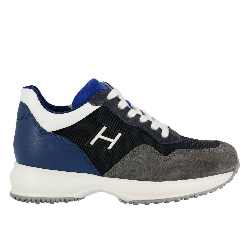 Zapatos niños Hogan azul oscuro 1